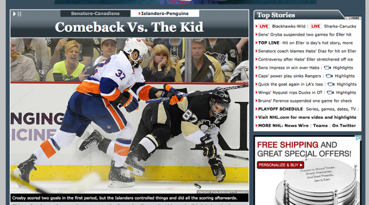 Pittsburgh Penguins v New York Islanders | Stanley Cup Playoffs | National Publications