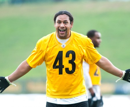 Troy with his boys | Pittsburgh Steelers Training Camp | Latrobe, Pennsylvania